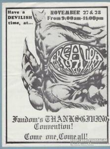 1st CREATION New York COMIC CON 1971 Art Convention FLYER Kenneth Smith fandom