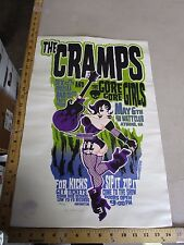 MB/ 2003 Rock & Roll Concert Poster The Cramps Andrew Bawidamann S/N#150
