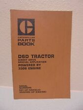 CAT CATERPILLAR D6D CRAWLER TRACTOR DOZER PARTS BOOK MANUAL S/N 5X1-UP