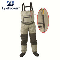 Fishing Stocking Foot Waterproof Breathable Chest Waders With Accessory Rope