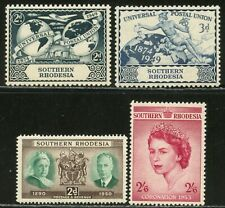 SOUTHERN RHODESIA Sc#71-73, 80 1949-53 Three Complete Sets OG Mint Hinged