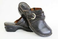Born Of Concept BOC Womens 11 Black Leather Clog Heels Buckle Worn Once