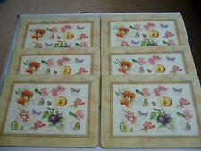 Set of 6 Traditional Table Mats by Creative Tops - Fruit Study