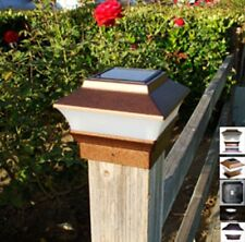 6-pk NEW Solar Copper Cap Lights With 2 Bright White SMD LED For 4x4 Wood Post