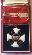 Order of the Crown of Italy 18k Gold 3rd class on necklet In Box