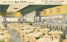 1952 Davy Jones Seafood House Radio City New York Baumann Restaurant 12157