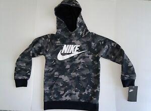 Boys nike black camo sweatshirt size 6 nwt