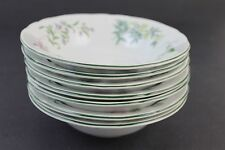 "Set of 7 Jewel Stone Sakura Botanica Porcelain 7"" Cereal Salad Bowls"