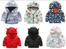 Toddler Kids Baby Boys/Girls outerwear Hooded coats Cartoon Jacket Baby Clothes