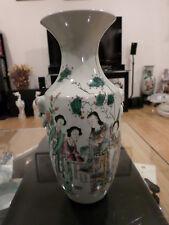 Antique Chinese Famille Rose Baluster Form Vase