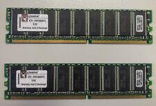 2 MODULOS MEMORIA 512Mb KTH-XW4100A/512 DDR KINGSTON (PC3200 400MHz)