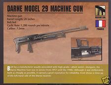 DARNE MODEL 29 MACHINE GUN 7.5mm France WW1 Atlas Classic Firearms PHOTO CARD