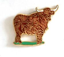 Highland Cow Cattle Farming Enamel Tie or Lapel Pin Badge NEW 1st Class POSTAGE