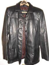 Womens Wilsons Black Leather Coat Size Large