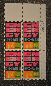 1974US #1547 10c Energy Conservation - Plate Block of 4 -  Mint NH