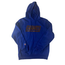 More details for new york giants hoodie blue large nfl apparel american football