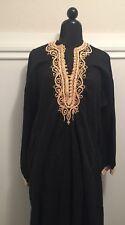 60's Moroccan kaftan caftan Dress Vintage  djellaba unisex cotton embroidered