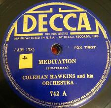 "COLEMAN HAWKINS meditation - what harlem is to me 10""  VG+ DECCA 742 Vinyl"