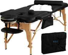 Portable Massage Table with Carry Case Accessories Arm Rest Facial Cradle Sheet