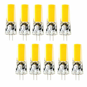 10x 4W G4 Bi-Pin 2W COB-2609 LED RV boat Light Bulb mini Lamp 12-24V White/Warm