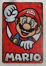 Deko Blechschild Super Mario 30 x 20 Game Gamer Spiel Nintendo