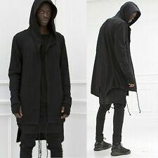 Fashion Men hooded jacket long cardigan black ninja goth gothic punk hoodie B9