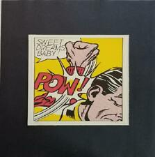 "Roy Lichtenstein  "" Sweet Dreams Baby! (Pow) "" Mounted off-set Lithograph 1973"