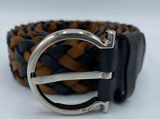 Salvatore Ferragamo Men's Interlaced Leather Belt Size US 34 Made in Italy