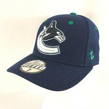 Vancouver Canucks Unisex Adult Hat Cap NHL Zephyr Size 7 Blue Wool Blend