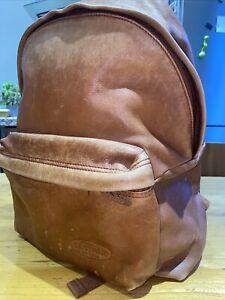 Eastpak Brown Genuine Leather Backpack