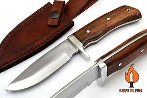 CUSTOM HANDMADE D2 STEEL FULL TANG SKINNER HUNTING OUTDOOR KNIFE WALNUT WOOD.