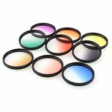55mm 9 Graduated Gradual Color Filter kit set for Canon Nikon Sony Sigma Tamron