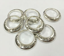 "15PCS 30MM Antique Silver Round ""I love U"" Alloy Moon DIY Charm Pendant Jewelry"