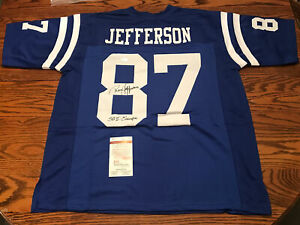 "Roy Jefferson Baltimore Colts Signed Custom Jersey With ""SB V CHAMPS"" Insc JSA"