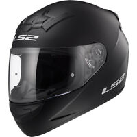 LS2 FF352 FULL FACE MOTORCYCLE MOTORBIKE HELMET MATT BLACK PLAIN ROOKIE