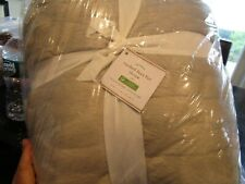 Pottery Barn Faux fur ruched throw ivory  50 X 60  New w tag