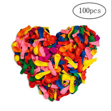 100pcs Party Balloons Rainbow Ballons Set Assorted Colored Strong Latex Balloons