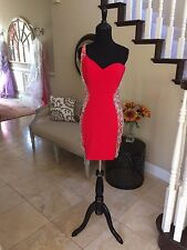 $398 NWT RED JVN BY JOVANI HOMECOMING/COCKTAIL/PAGEANT DRESS #20404 SIZE 6