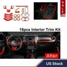 Car Interior Decoration Accessories For Jeep Wrangler JK JKU 4 Door 11-17 18PCS