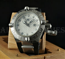 Invicta 50mm Subaqua Noma IV GMT Swiss Made White Dial Black Poly Strap Watch