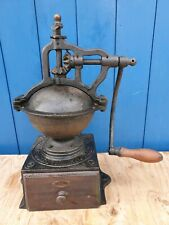 Antique French Peugeot Cast iron hand crank  Coffee Grinder / Mill  A2