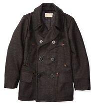 $790 RRL Ralph Lauren 1910s Double Faced100% English Wool Pea Coat Jacket-MEN-XL