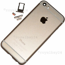 iPhone 5s in iphone 6-look Aluminium Mittel-Rahmen Gold Gehäuse+Tasten NEU