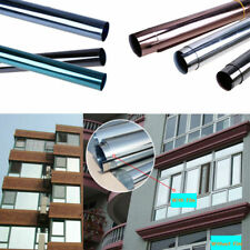 Silver Mirror Glass Foil Film DIY UV Reflective Protection Removable Anti Water