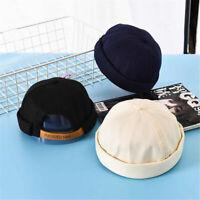 Fashion Unisex Street Casual Docker Sailor Biker Hat Loop Beanie Brimless Cap
