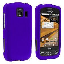 For LG Optimus S LS670 Optimus U Otimus V Hard Case Snap on Cover Rubber Purple