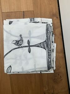 Ikea Bird Pattern White Curtains Sheer