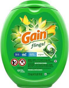 Gain Flings Original Scent, 96 ct Laundry Detergent Pacs