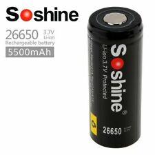 Soshine 26650 5500mAh 3.6v - 3.7v Li Ion Battery 6A PCB Flattop UK wide delivery