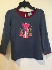 UTTAM KIDS Crown Cat Blue Tee Top Shirt 9 10 Years Yumi